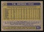 1987 Topps #387  T.R. Bryden  Back Thumbnail