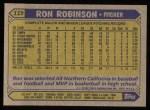 1987 Topps #119  Ron Robinson  Back Thumbnail