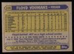 1987 Topps #105  Floyd Youmans  Back Thumbnail
