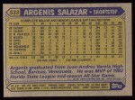 1987 Topps #533  Angel Salazar  Back Thumbnail