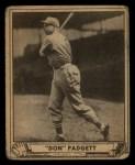 1940 Play Ball #109  Don Padgett  Front Thumbnail