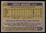 1987 Topps #695  Chico Walker  Back Thumbnail