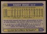 1987 Topps #364  Randy Bush  Back Thumbnail