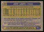 1987 Topps #367  Jeff Lahti  Back Thumbnail