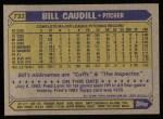 1987 Topps #733  Bill Caudill  Back Thumbnail