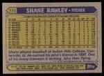 1987 Topps #771  Shane Rawley  Back Thumbnail