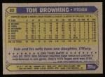 1987 Topps #65  Tom Browning  Back Thumbnail