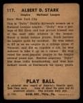1940 Play Ball #117  Dolly Stark  Back Thumbnail