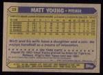 1987 Topps #19  Matt Young  Back Thumbnail