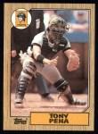 1987 Topps #60  Tony Pena  Front Thumbnail