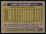 1987 Topps #683  Gary Roenicke  Back Thumbnail