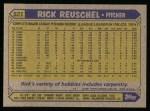 1987 Topps #521  Rick Reuschel  Back Thumbnail