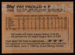 1988 Topps #288  Pat Pacillo  Back Thumbnail