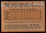 1988 Topps #107  Scott Bailes  Back Thumbnail