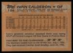 1988 Topps #184  Ivan Calderon  Back Thumbnail