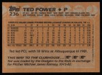 1988 Topps #236  Ted Power  Back Thumbnail