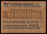 1988 Topps #636  Charles Hudson  Back Thumbnail