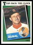 1988 Topps #665   -  Stan Musial Turn Back The Clock Front Thumbnail