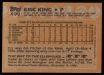 1988 Topps #499  Eric King  Back Thumbnail
