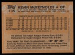 1988 Topps #735  Kevin McReynolds  Back Thumbnail