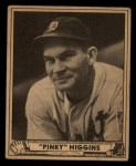 1940 Play Ball #199  Pinky Higgins  Front Thumbnail