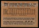 1988 Topps #617  Oddibe McDowell  Back Thumbnail