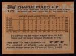 1988 Topps #179  Charlie Puleo  Back Thumbnail