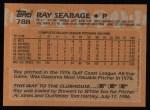 1988 Topps #788  Ray Searage  Back Thumbnail