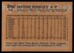 1988 Topps #66  Shane Rawley  Back Thumbnail