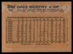 1988 Topps #90  Dale Murphy  Back Thumbnail