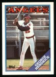 1988 Topps #304  George Hendrick  Front Thumbnail