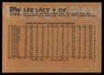 1988 Topps #598  Lee Lacy  Back Thumbnail
