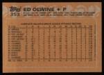 1988 Topps #353  Ed Olwine  Back Thumbnail