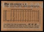 1988 Topps #336  Ed Lynch  Back Thumbnail