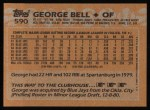 1988 Topps #590  George Bell  Back Thumbnail