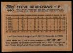 1988 Topps #440  Steve Bedrosian  Back Thumbnail