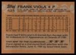 1988 Topps #625  Frank Viola  Back Thumbnail
