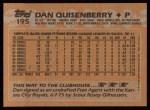 1988 Topps #195  Dan Quisenberry  Back Thumbnail
