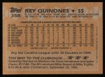 1988 Topps #358  Rey Quinones  Back Thumbnail