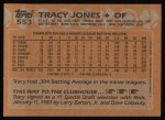 1988 Topps #553  Tracy Jones  Back Thumbnail