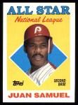 1988 Topps #398   -  Juan Samuel All-Star Front Thumbnail