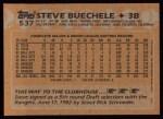 1988 Topps #537  Steve Buechele  Back Thumbnail