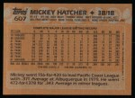 1988 Topps #607  Mickey Hatcher  Back Thumbnail