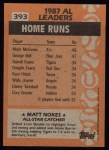 1988 Topps #393   -  Matt Nokes All-Star Back Thumbnail