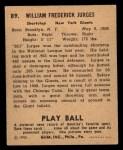 1940 Play Ball #89  Billy Jurges  Back Thumbnail