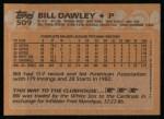 1988 Topps #509  Bill Dawley  Back Thumbnail