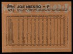 1988 Topps #473  Joe Niekro  Back Thumbnail