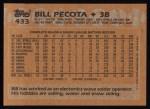 1988 Topps #433  Bill Pecota  Back Thumbnail