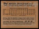 1988 Topps #143  Mickey Tettleton  Back Thumbnail