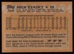 1988 Topps #364  Nick Esasky  Back Thumbnail